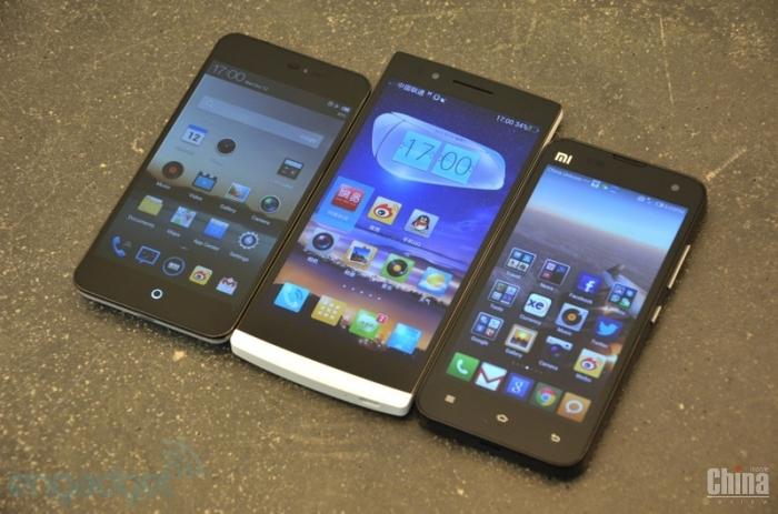 Сравнение дисплеев Oppo Find 5, Xiaomi M2 и Meizu MX2