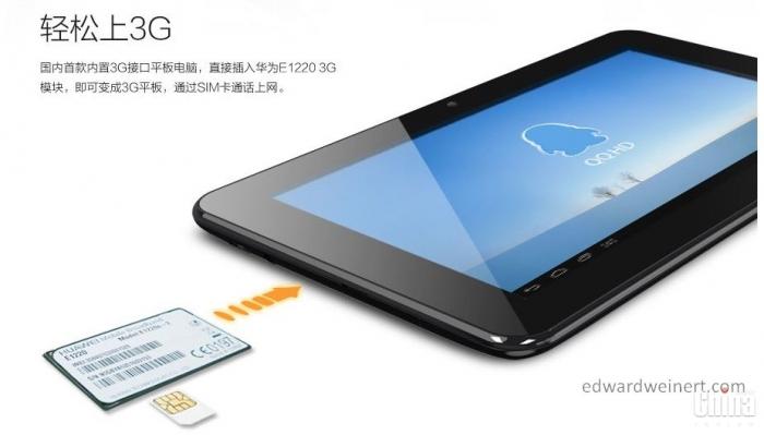 Представлен первый в мире планшет Ainol AW1 с поддержкой технологии Huawei UltraStick 3G