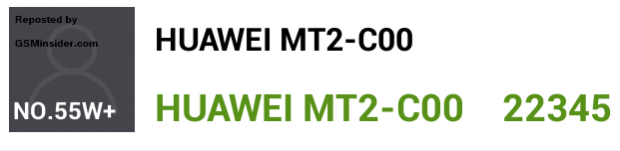 Huawei Ascend Mate 2 засветился в AnTuTu