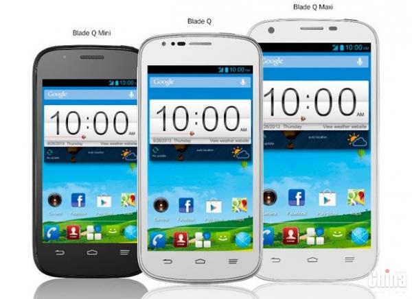 ZTE запускает три новых смартфона серии Blade Q