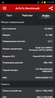 Обзор смартфона GlobusGPS GL-800