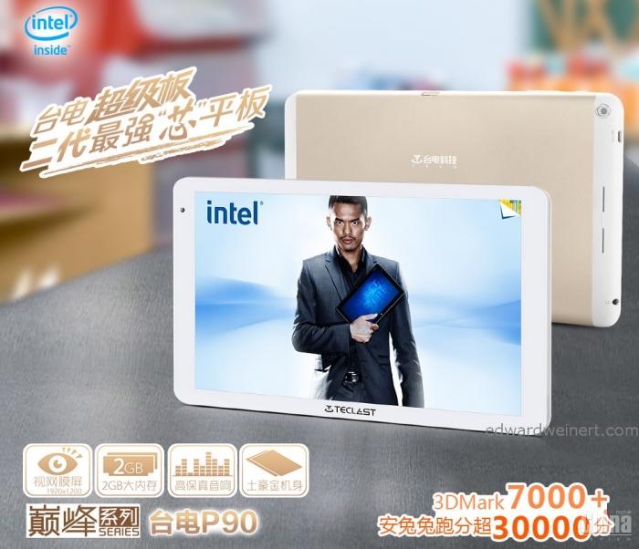 Teclat P90 - бюджетный планшет с 8,9-дюймовым FullHD и процессором Intel Atom Z2580