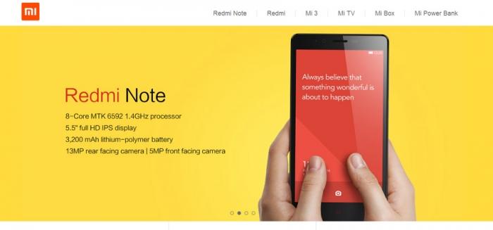 Xiaomi сменила домен на Mi.com