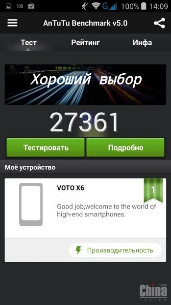 Строгий фаблет - VOTO X6
