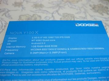 Имиджевый бюджетник Doogee Nova Y100x