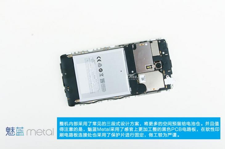 Фотоотбзор внутренностей Meizu M1 Metal