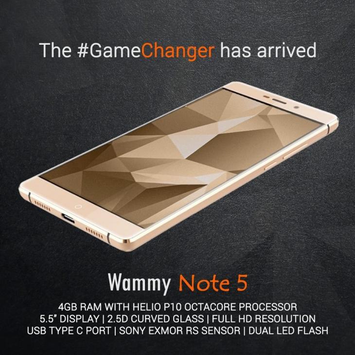 Wammy Note 5 –  смартфон с 4 ГБ RAM и на Helio P10