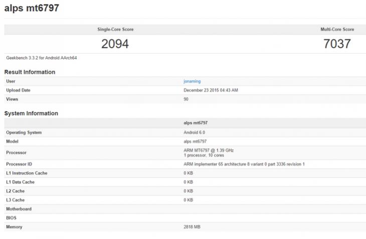 MediaTek Helio X20 отлично показал себя в Geekbench