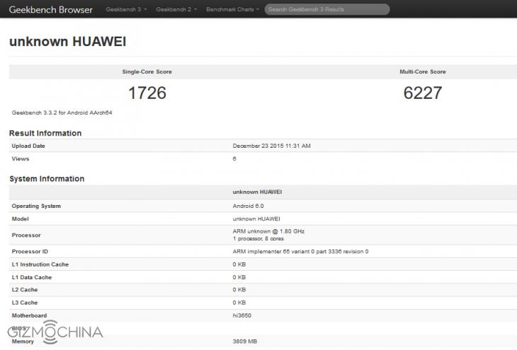 Huawei готовит новый смартфон на Kirin 950