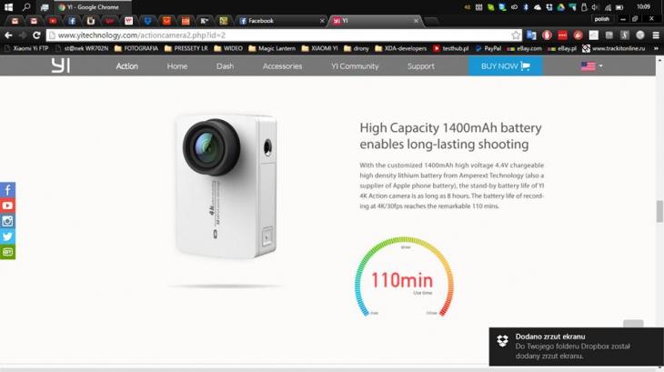 Новая экшн-камера Xiaomi Yi 4K Action Camera 2 получит LCD-экран