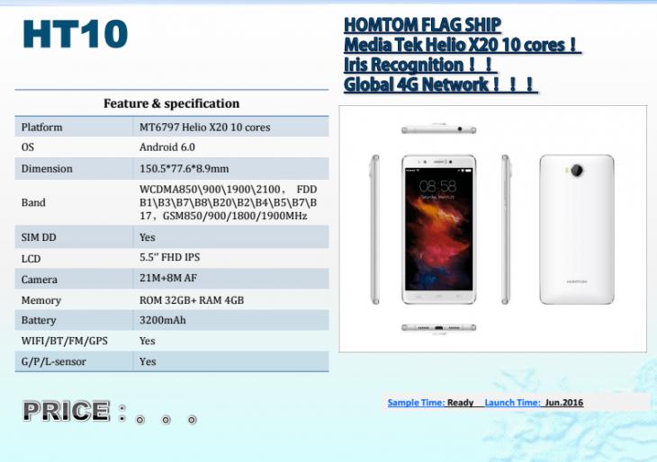 Характеристики HomTom HT10 и цена HomTom HT17