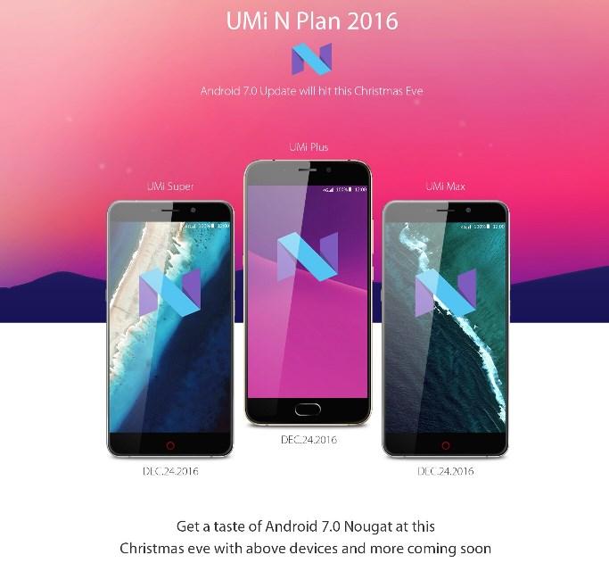 UMi выпустит Android 7.0 для нескольких своих смартфонов