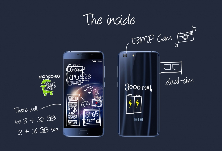 Elephone S7 будет выпущен в трех верси¤х
