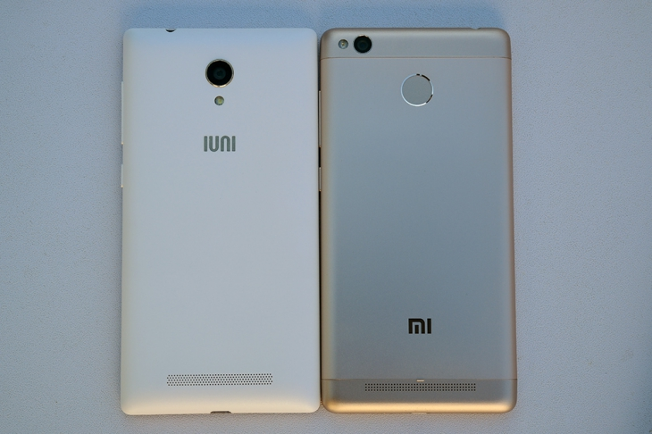 IUNI i1 vs Xiaomi Redmi 3s