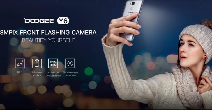 В продаже появился смартфон для селфи Doogee Y6