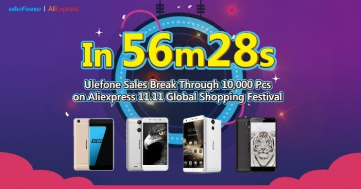 Ulefone 11 ноября продала 10 тысяч смартфонов за 57 минут