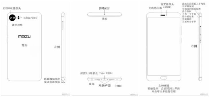 Утечка рисунков Meizu Pro 7