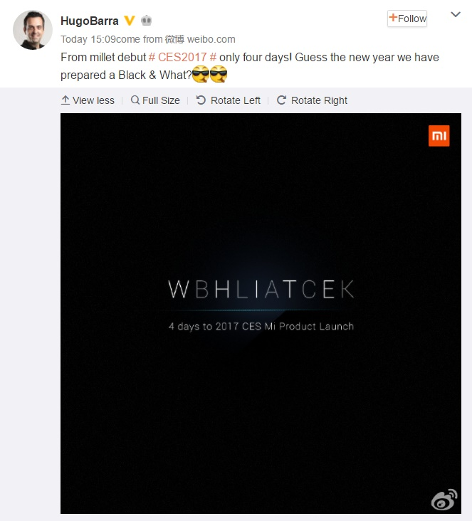Xiaomi тизерит новое устройство, которое представит на CES