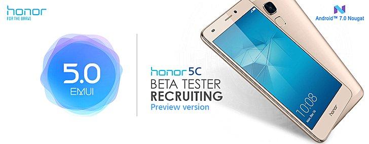 Начался бета-тест Android 7 для Honor 5C