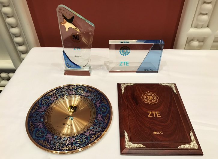 ZTE получила 4 награды на CES