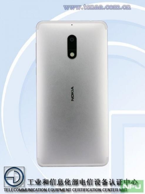 Nokia 6 в серебристом цвете прошел сертификацию на TENAA