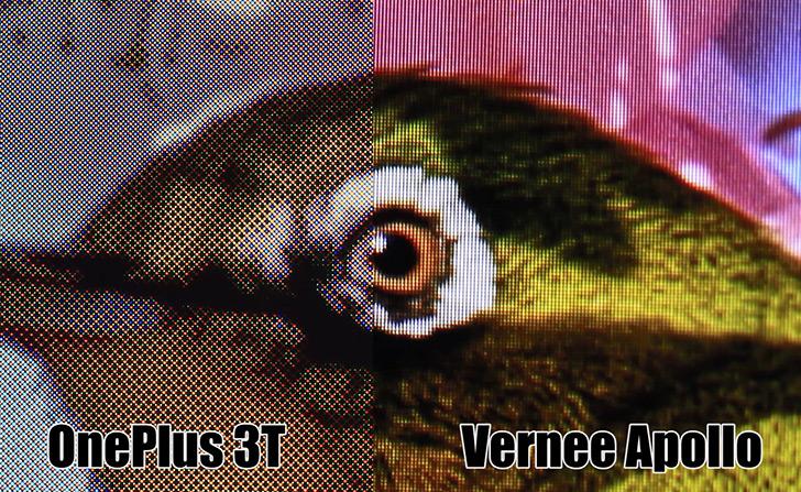 Vernee Apollo сравнили с флагманским OnePlus 3T — у кого экран лучше