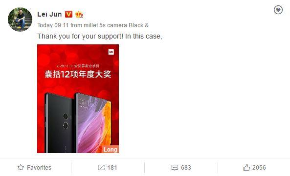 Несколько изданий признали Xiaomi Mi Mix смартфоном года и оценили дизайн