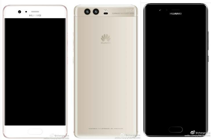 Huawei P10 показан на качественных рендерах