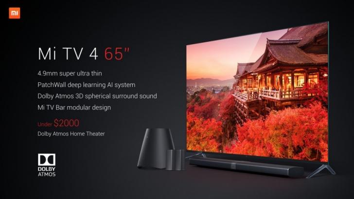 Xiaomi представила модульный телевизор Mi TV 4 толщиной всего 4.9 мм