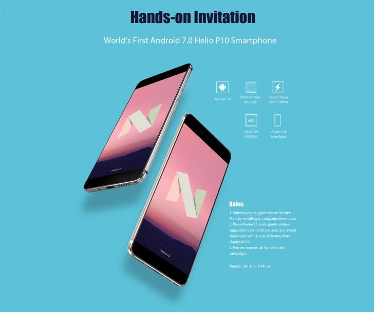 Получите Vernee Mars бесплатно: протестируйте первый смартфон на чипе Helio P10, обновленн ...