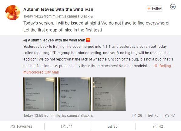 Xiaomi Mi Note, Мi 4 и Мi Note Pro получили неофициальную прошивку на Android 7.1.1