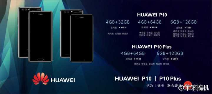 Утечка цен Huawei P10 и P10 Plus