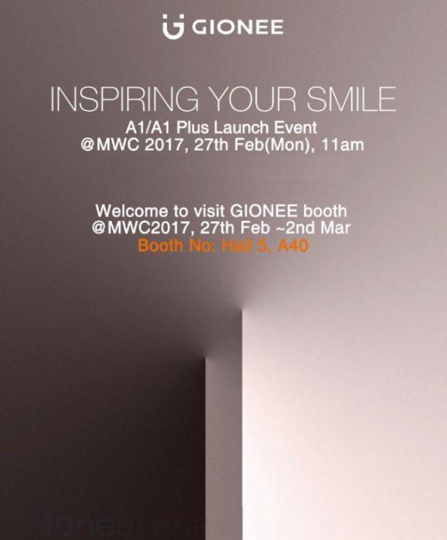 Gionee A1 и A1 Plus покажут на MWC