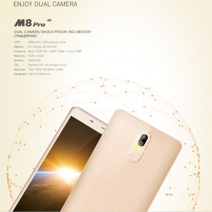 Leagoo M8 Pro получит большой экран и двойную камеру