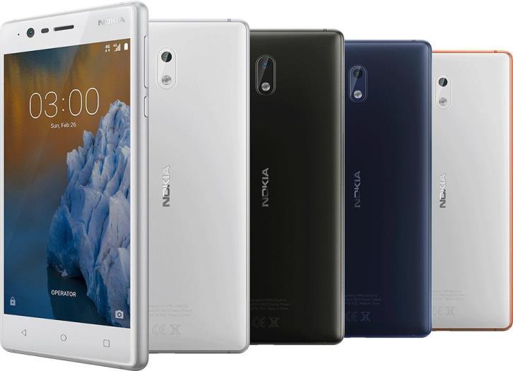 Раскрыты полные характеристики Nokia 3, 5 и 6