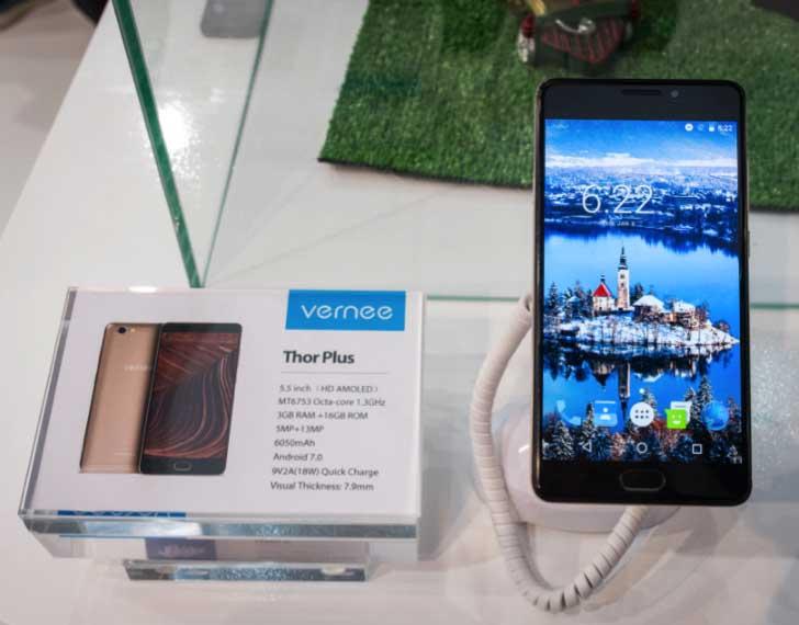 Анонс смартфонов Vernee Thor E и Thor Plus на выставке MWC 2017