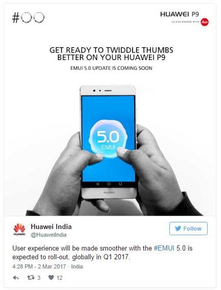 Huawei P9 и Honor 6X скоро получат EMUI 5.0 на базе Android 7.0