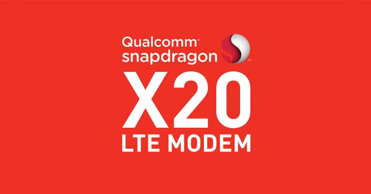Технологии: LTE-модем Snapdragon X20 LTE со скоростью передачи до 1,2 Гбит/с
