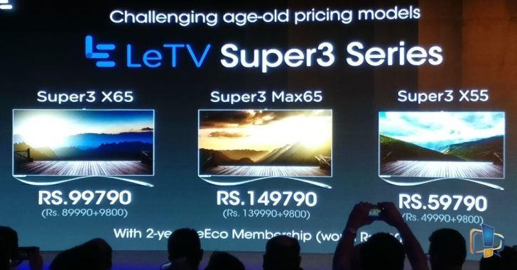 LeEco на индийском рынке сделает ставку на телевизоры и аксессуары