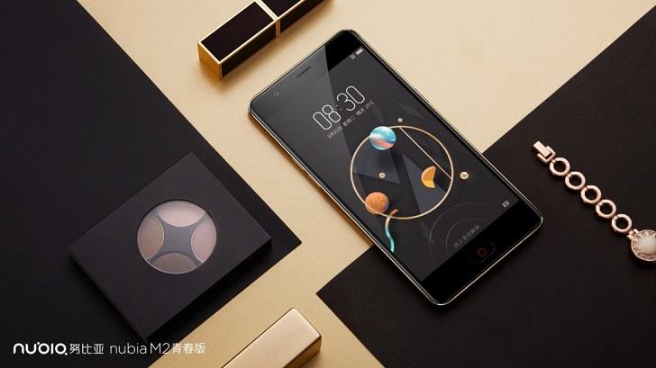 ZTE представила три новых смартфона: Nubia M2, M2 Lite и N2