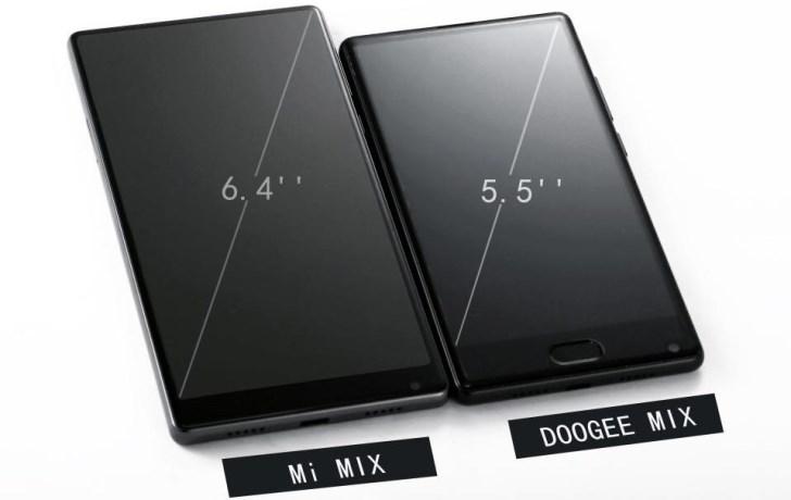 Doogee Mix будет доступным смартфоном без рамок
