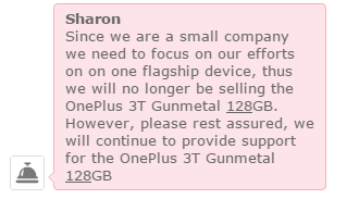 OnePlus 3T 128 ГБ снимают с производства