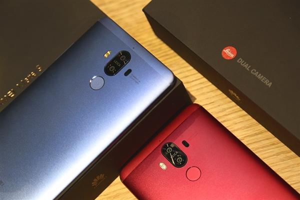Появились фотографии синего и красного Huawei Mate 9