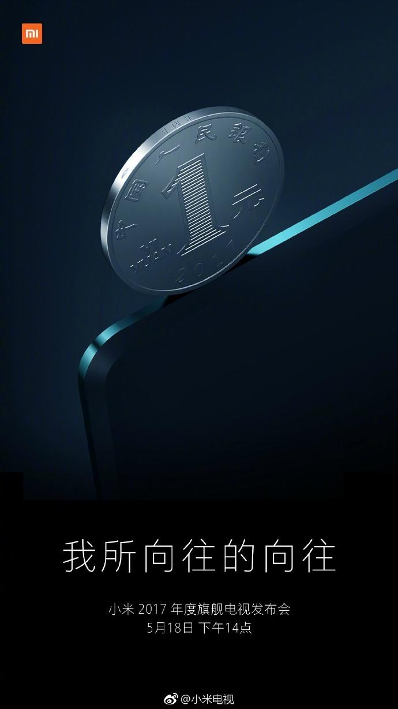 Новый тизер Mi TV 4 намекает на его толщину с монету