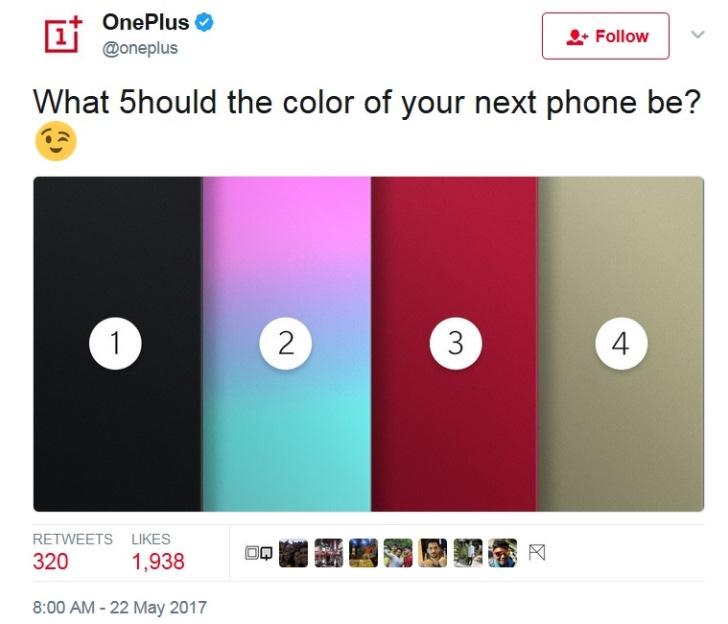 OnePlus 5 могут выпустить в четырех цветах
