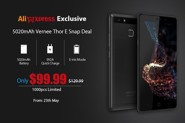 Aliexpress и Vernee Thor E: всего 1000 смартфонов за $99,99