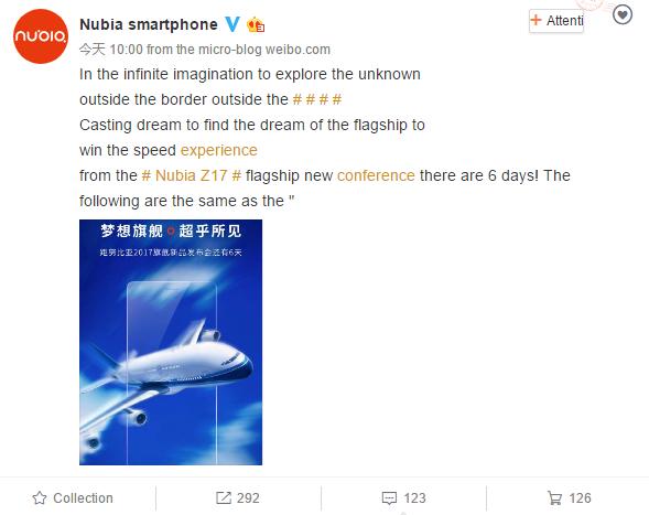 Nubia выпустила новый тизер флагмана Z17 с узкими рамками