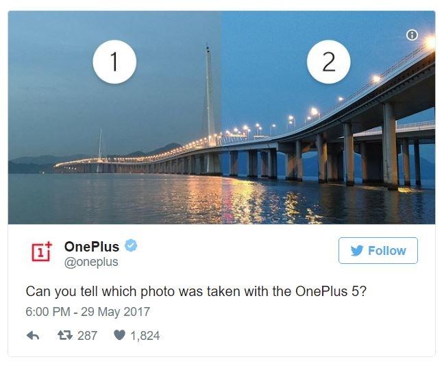 OnePlus показала первую фотографию, снятую на OnePlus 5