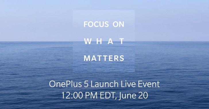 OnePlus 5 действительно представят 20 июня
