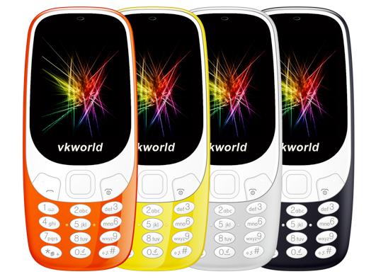 Vkworld решила сделать клон новой Nokia 3310